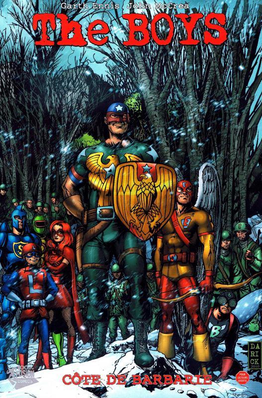 The Boys – édition souple, T15 : Côte de barbarie (0), comics chez Panini Comics de Ennis, Burns, McCrea, Aviña, Robertson