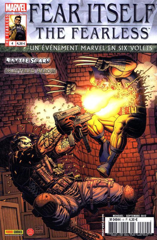 Fear Itself – The Fearless, T4, comics chez Panini Comics de Fraction, Yost, Bunn, Eaton, Pelletier, Bagley, Mounts, Wilson, Lanning, Mossa, Adams