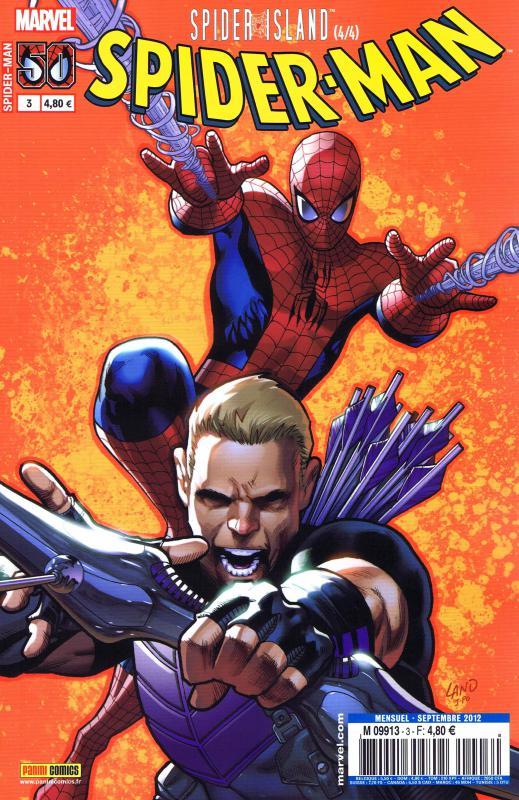 Spider-Man (revue) – V 3, T3 : Spider-Island (4/4) (0), comics chez Panini Comics de Slott, Wells, Tieri, Yost, Caselli, Rodriguez, Land, Ramos, Stegman, Delgado, Martin, Quintana, Gracia