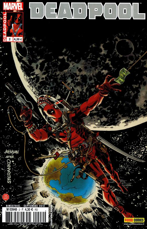 Deadpool (revue) – V 3, T2 : Complètement space (0), comics chez Panini Comics de Choi, Way, Strychalski, Barbieri, Gracia, Mossa, Johnson