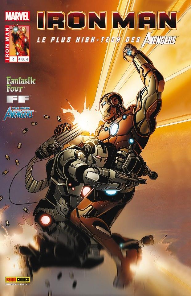 Iron Man (revue) – V 1, T3 : Le pont (0), comics chez Panini Comics de Fraction, Bendis, Hickman, Epting, Kitson, Larroca, Bobillo, Deodato Jr, Conrad, Mounts, Sotomayor, Beredo, d' Armata