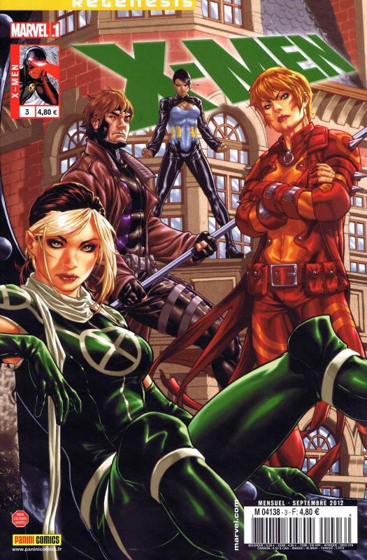 X-Men (revue) – V 3, T3 : En exil (0), comics chez Panini Comics de Gage, Gillen, Land, Peterson, Baldeon, Oback, Ponsor, Martin, Guru efx, Brooks