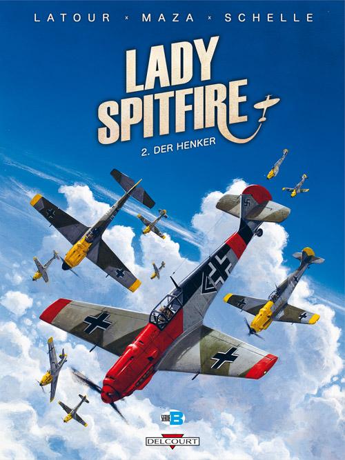 Lady Spitfire T2 : Der Henker (0), bd chez Delcourt de Latour, Vicanovic-Maza, Schelle
