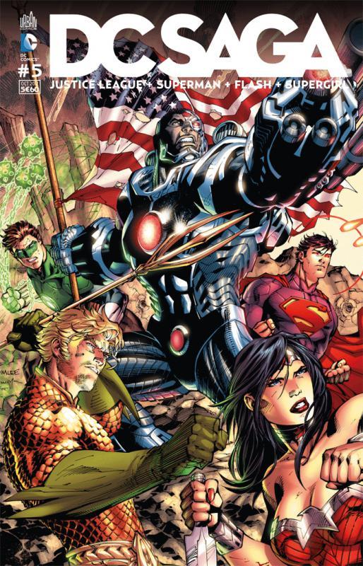 DC Saga T5, comics chez Urban Comics de Johns, Buccellato, Green, Manapul, Perez, Johnson, Asrar, Williams, Lee, Scott, Irwin, Weems, Hope, Eltaeb, McCraig, Aviña, Smith, Sinclair