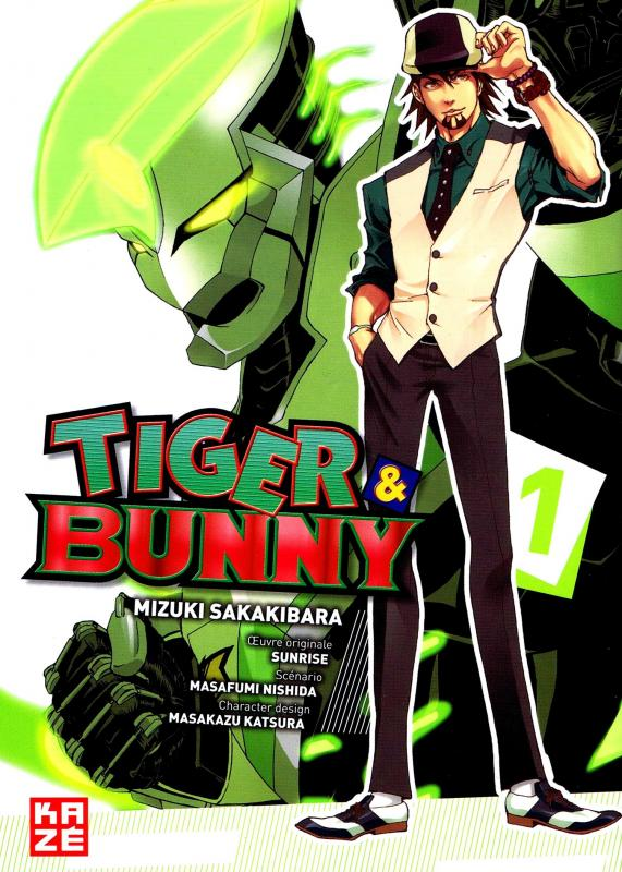 Tiger & bunny T1, manga chez Kazé manga de Nishida, Sakakibara