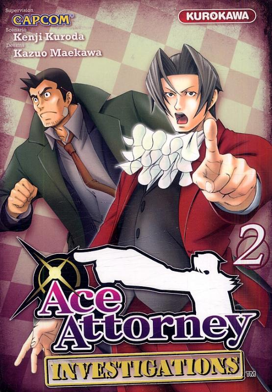 Ace attorney Investigations T2, manga chez Kurokawa de Kuroda, Capcom , Maekawa