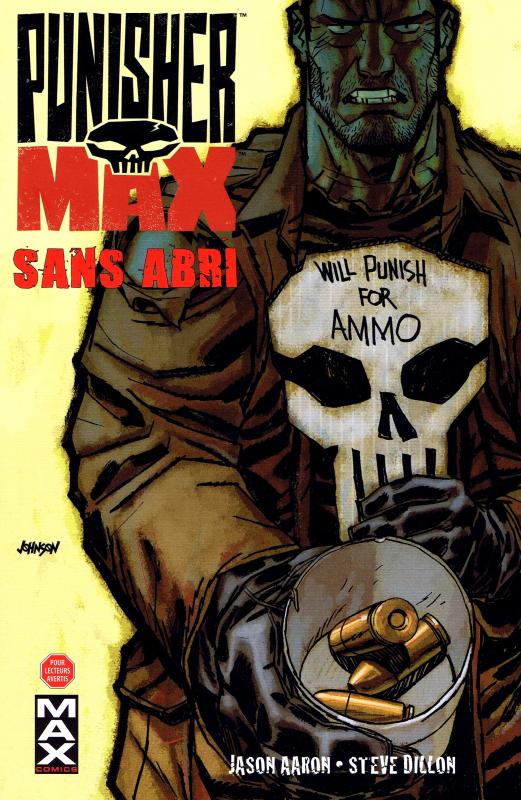 Punisher Max T5 : Sans abri (0), comics chez Panini Comics de Aaron, Dillon, Hollingsworth, Johnson