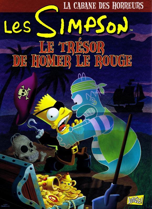 Les Simpson - La cabane des horreurs T4 : Le trésor de Homer le rouge (0), comics chez Jungle de Morrison, Groening, Wein, Wrightson