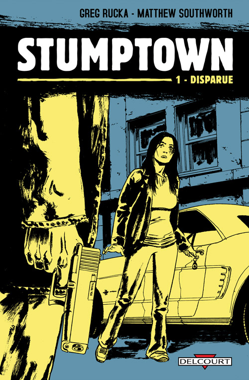 Stumptown T1 : Disparue (0), comics chez Delcourt de Rucka, Southwork, Renzi, Loughridge