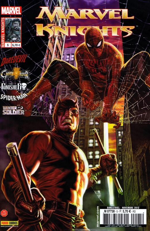Marvel Knights T5 : Au diable les détails  (0), comics chez Panini Comics de Waid, Rucka, Williams, Brubaker, Checchetto, Garbett, Rivera, Guice, Rios, Kano, Mossa, Schwager, Hollingsworth, Rodriguez, Bermejo
