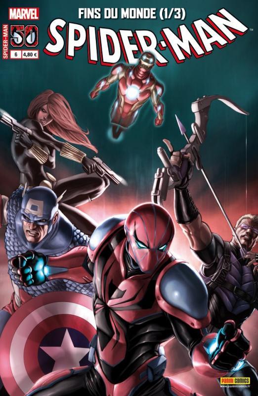 Spider-Man (revue) – V 3, T6 : Fins du monde (1/3) (0), comics chez Panini Comics de Yost, Immonem, Slott, Stegman, Immonen, Camuncoli, Von Grawbadger, Caselli, Janson, Mossa, Gracia, Martin jr, Hollingsworth, d' Armata