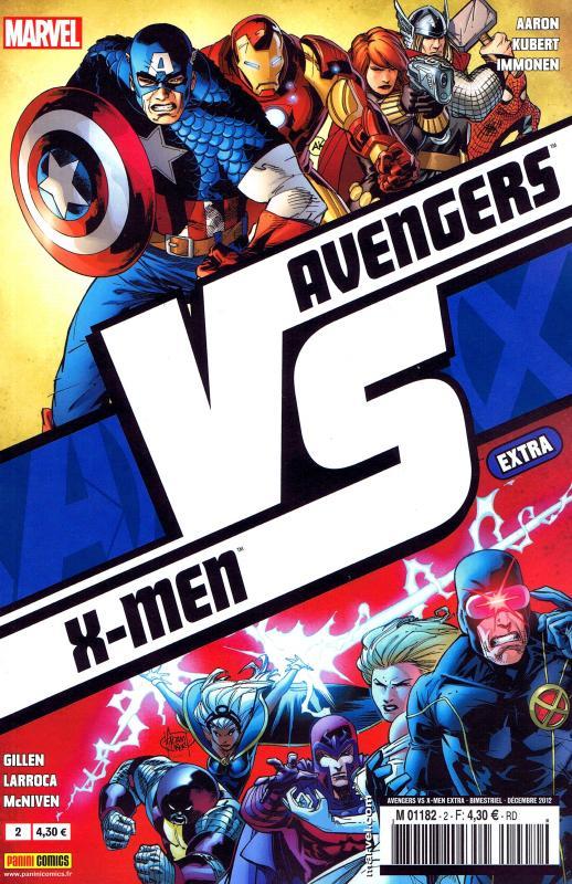 Avengers vs X-Men – Extra, T2 : VS (1/3) (0), comics chez Panini Comics de Gillen, McNiven, Aaron, Immonem, Kubert, Larroca, Immonen, Hollowell, Charalampidis