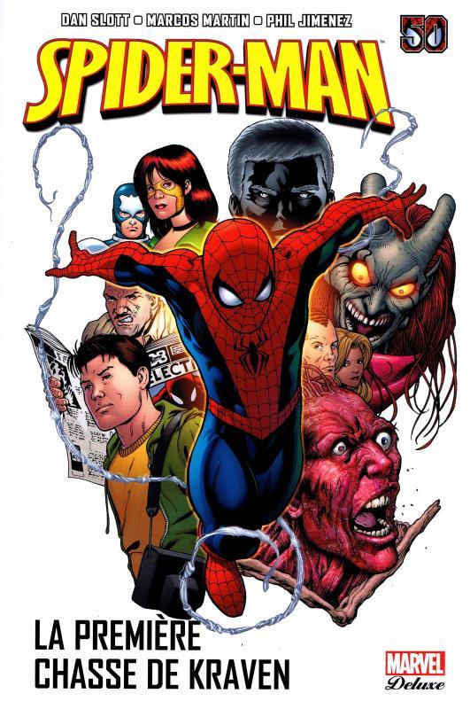 Spider-Man T2 : La première chasse de Kraven (0), comics chez Panini Comics de Hader, Wells, Gale, Guggenheim, Slott, Meyers, Martin, Kitson, Maguire, Mckone, Oliffe, Siqueira, Jimenez, White, Fabela, Chuckry, Avalon studios, Rodriguez, Cox, Beredo