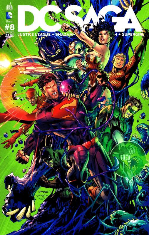 DC Saga T8, comics chez Urban Comics de Manapul, Giffen, Johnson, Johns, Green, Jurgens, Frank, Ha, Merino, Perez, Herring, Mounts, Horie, Horie, Anderson, Lyon, Buccellato, Lee