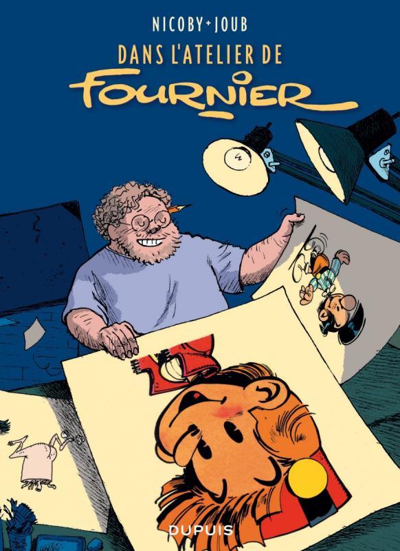 Dans l'atelier de Fournier, bd chez Dupuis de Nicoby, Joub