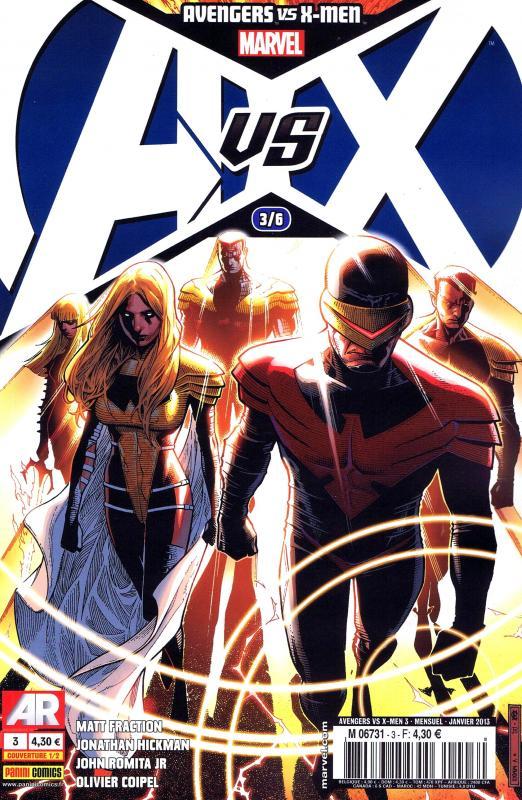 Avengers vs X-Men T3, comics chez Panini Comics de Hickman, Fraction, Romita Jr, Coipel, Martin, Cheung