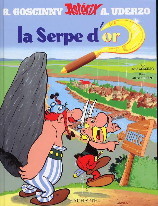 Astérix T2 : La serpe d'or (0), bd chez Hachette de Goscinny, Uderzo