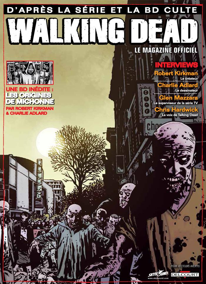 Walking Dead – Le magazine officiel, T1, comics chez Delcourt de Collectif, Kirkman, Adlard, Rathburn