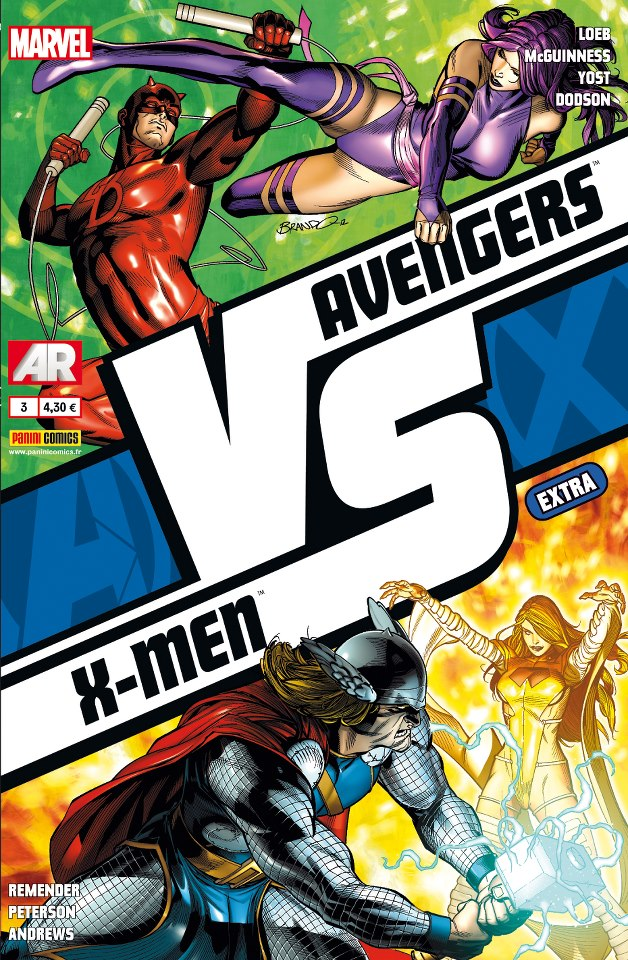 Avengers vs X-Men – Extra, T3 : VS (2/3) (0), comics chez Panini Comics de Yost, Loeb, Remender, Andrews, Dodson, Peterson, McGuinness, Hollowell, Guru efx