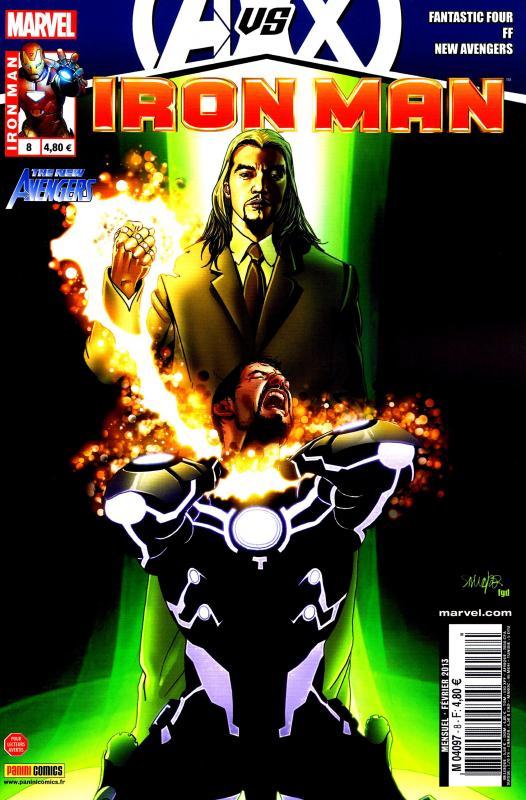 Iron Man (revue) – V 1, T8 : Inertie (0), comics chez Panini Comics de Bendis, Hickman, Fraction, Deodato Jr, Camuncoli, Larroca, Hernandez Walta, Mounts, Peter, Beredo, d' Armata