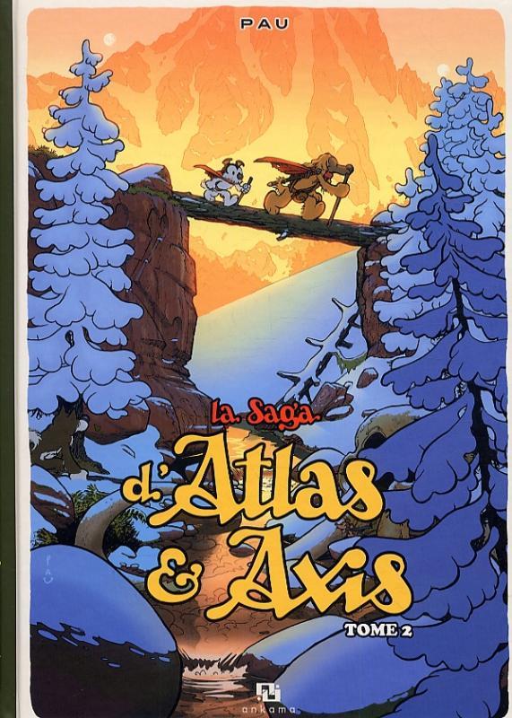 La saga d'Atlas & Axis T2, bd chez Ankama de Pau