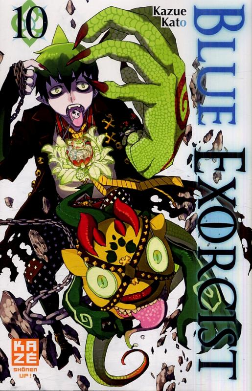 Blue exorcist T10, manga chez Kazé manga de Kato