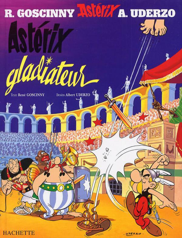 Astérix T4 : Astérix Gladiateur (0), bd chez Hachette de Goscinny, Uderzo