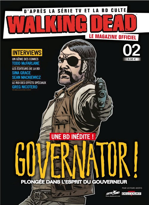 Walking Dead – Le magazine officiel, T2, comics chez Delcourt de Kirkman, Collectif, Adlard, Rathburn