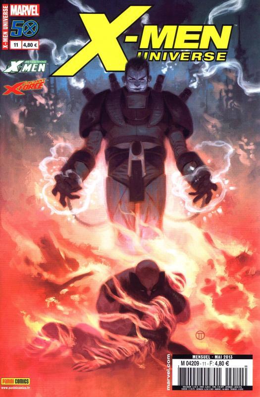 X-Men Universe – Revue V 2, T11 : Le ferrailleur (0), comics chez Panini Comics de Liu, Peck, Perkins, Azaceta, Southwork, Noto, Mossa, Rosenberg, Martin jr, Loughridge, Ramos, Tedesco, Remender