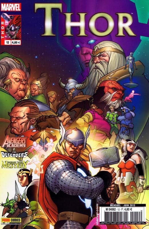 Thor – Revue V 2, T12 : L'impossible fin (0), comics chez Panini Comics de Fraction, Gillen, Gage, Kitson, Hans, Pierfederici, Grummet, Bellaire, Sotomayor, Quintana, Gandini, Ferry