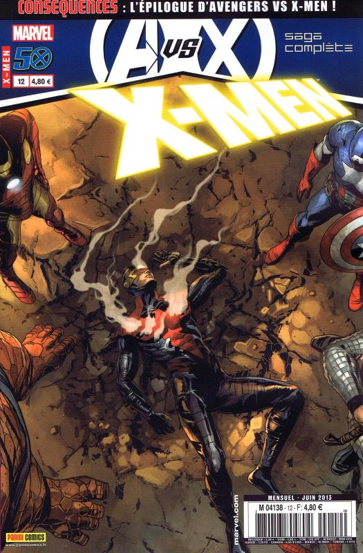 X-Men (revue) – V 3, T12 : Conséquences (0), comics chez Panini Comics de Gillen, Brooks, Hernandez Walta, Raney, Eaton, Kurth, Charalampidis, Zircher