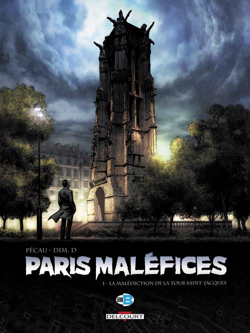 Paris maléfices T1 : La malédiction de la tour Saint Jacques (0), bd chez Delcourt de Pécau, Dim D.