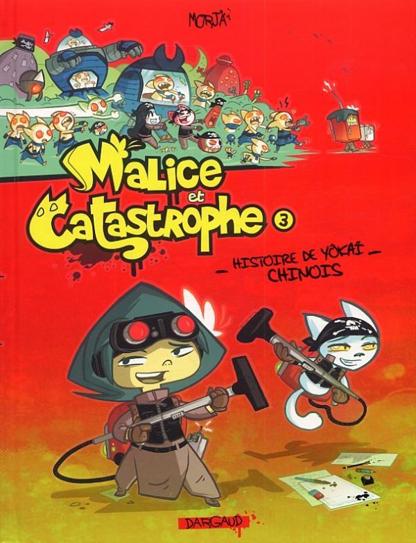 Malice et Catastrophe T3 : Histoire de yôkai chinois (0), bd chez Dargaud de Morja