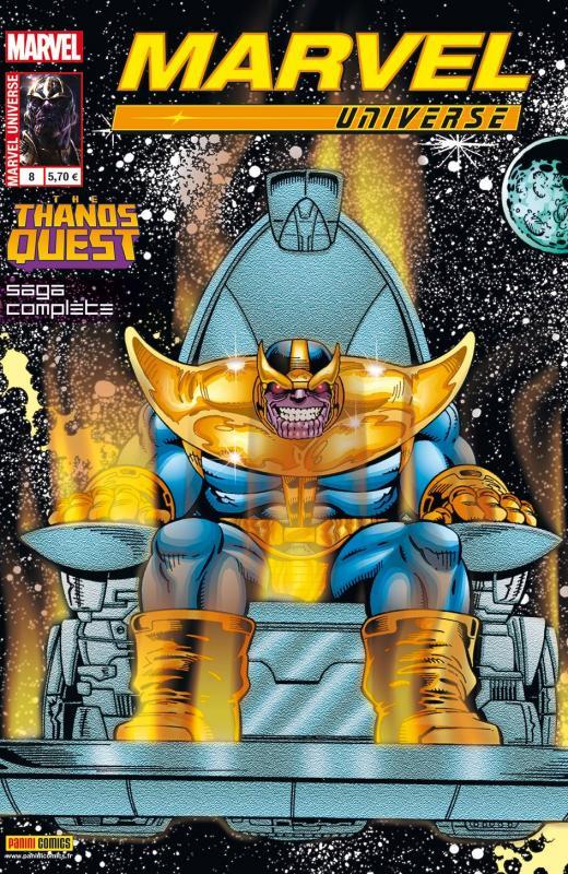 Marvel Universe – V 2, T8 : La quête de Thanos (0), comics chez Panini Comics de Starlin, Dematteis, Lim, Elson, Hollowell, Vincent