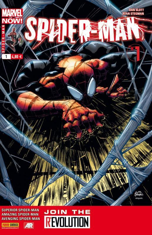 Spider-Man (revue) – V 4, T1 : Marvel Now ! Héros ou danger public ? (0), comics chez Panini Comics de Bunn, Fialkov, Slott, Plati, Camuncoli, Stegman, Dell'otto, Aymara, Delgado