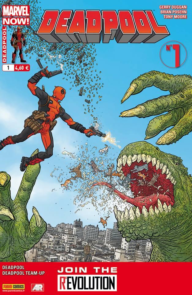 Deadpool (revue) – V 4, T1 : Marvel Now ! - Deadpool Président ! (0), comics chez Panini Comics de Duggan, Posehn, Van Lente, Talajic, Moore, Staples, Darrow