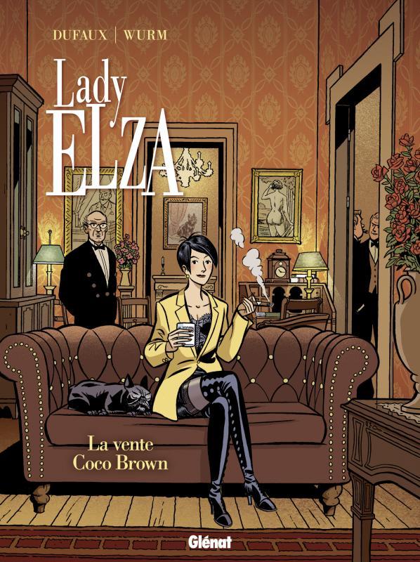 Lady Elza T2 : La vente Coco Brown (0), bd chez Glénat de Dufaux, Wurm, BenBK