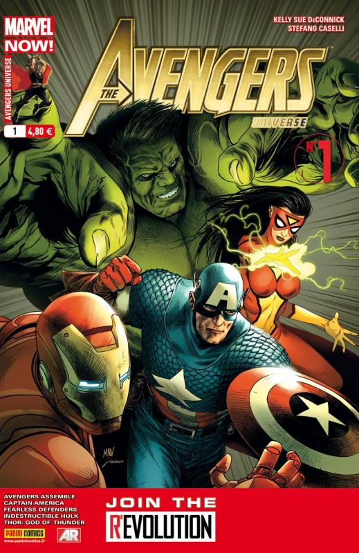 Avengers Universe (revue V1) T1 : Marvel Now ! - Le pari (0), comics chez Panini Comics de Waid, Remender, Bunn, Deconnick, Aaron, Romita Jr, Yu, Ribic, Sliney, Caselli, Gho, Gandini, Beredo, White, McNiven, Acuña