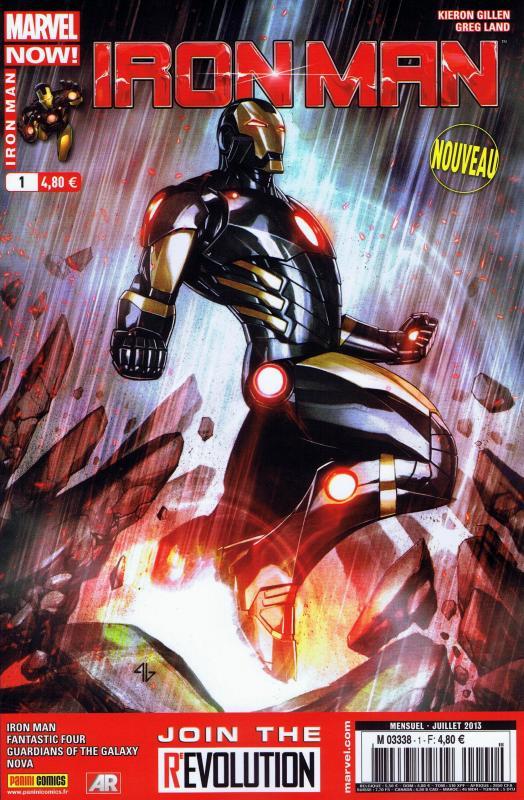 Iron Man (revue) – V 2, T1 : Marvel Now ! - La genèse (0), comics chez Panini Comics de Bendis, Gillen, Fraction, Loeb, McGuinness, McNiven, Land, Bagley, Mounts, Ponsor, Gracia, Guru efx, Granov