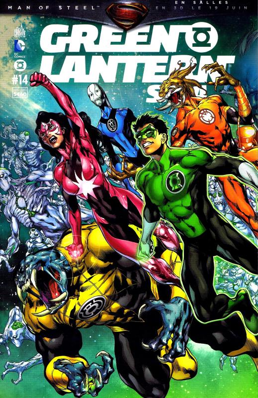Green Lantern Saga T14, comics chez Urban Comics de Tomasi, Johns, Bedard, Robinson, Milligan, Bressan, Pinna, Sepulveda, Scott, Mahnke, Cafu, Ruffino, Aviña, Eltaeb, Beredo, Pantazis, Sinclair, Reis