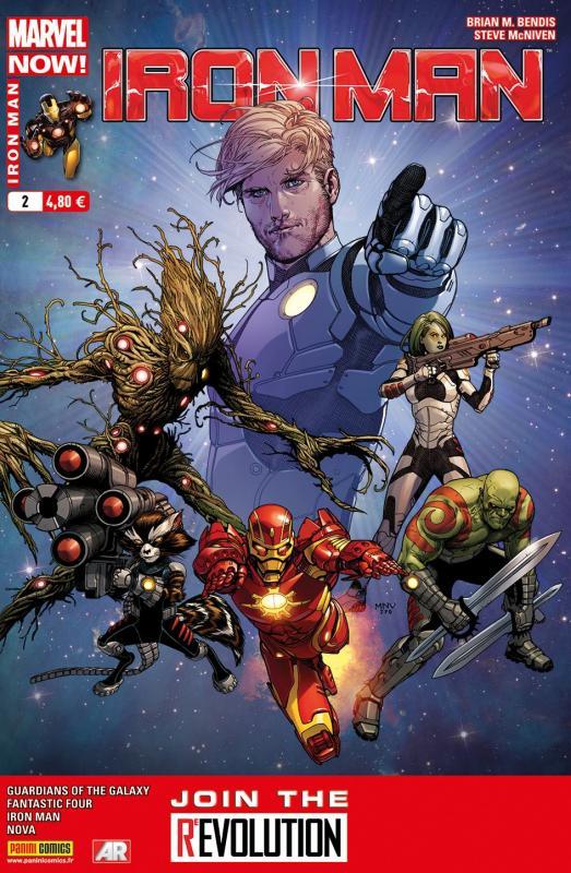 Iron Man (revue) – V 2, T2 : Piège spatial (0), comics chez Panini Comics de Fraction, Bendis, Gillen, Loeb, Bagley, Land, McGuinness, McNiven, Ponsor, Guru efx, Quintana, Mounts, Gracia