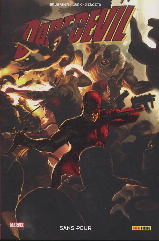 Daredevil - L'homme sans peur T17 : Sans peur (0), comics chez Panini Comics de Brubaker, Bermejo, Migrom, Maleev, Colan, Romita Sr, Gaudiano, Sienkiewicz, Djurdjevic, Azaceta, Lark, Hollingsworth, Mounts, White