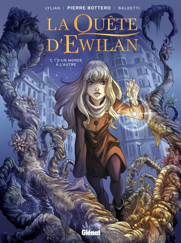 La Quête d'Ewilan T1 : D'un monde à l'autre (0), bd chez Glénat de Lylian, Bottero, Baldetti, Chevallier