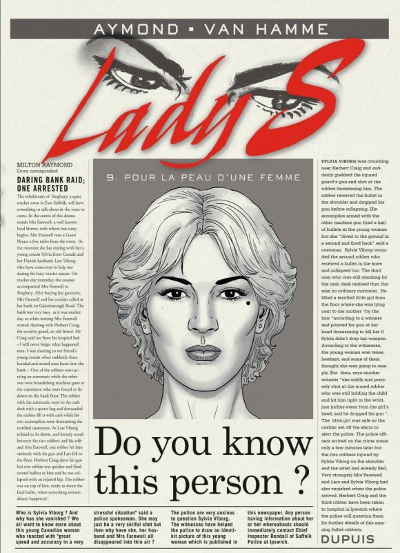 Lady S. T9 : Pour la peau d'une femme (0), bd chez Dupuis de Van Hamme, Aymond, Gérard