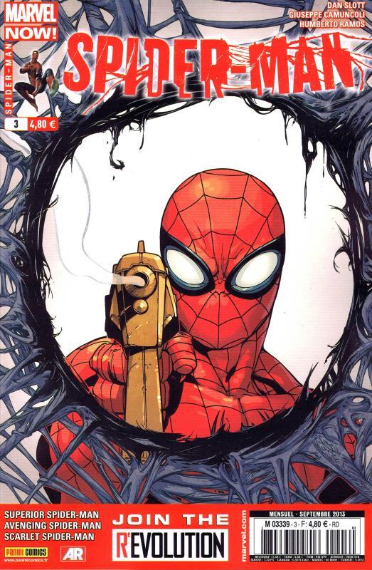 Spider-Man (revue) – V 4, T3 : Un monde de douceur (0), comics chez Panini Comics de Yost, Slott, Medina, Camuncoli, Pallot, Edwards, Vlasco, Olazaba, Ramos, Brown, Dell, Siqueira, d' Auria, Curiel, Fabela, Palmer, Mossa, Delgado