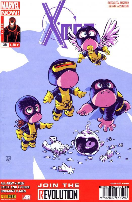 X-Men (revue) – V 4, T3 : Morts ou vifs (0), comics chez Panini Comics de Bendis, Hopeless, Bachalo, Larroca, Marquez, Vey, Olazaba, d' Armata, Gracia, Young