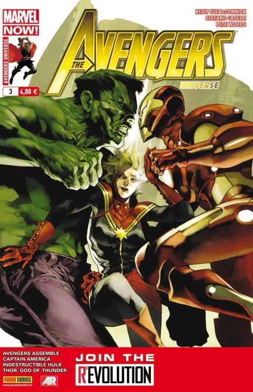 Avengers Universe (revue V1) T3 : Pandémie (0), comics chez Panini Comics de Waid, Remender, Aaron, Deconnick, Romita Jr, Yu, Woods, Alanguilan, Ribic, Caselli, Beredo, White, Loughridge, Janson, Svorcina, Gho, Perger