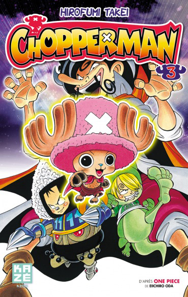 Chopperman T3, manga chez Kazé manga de Takei, Oda
