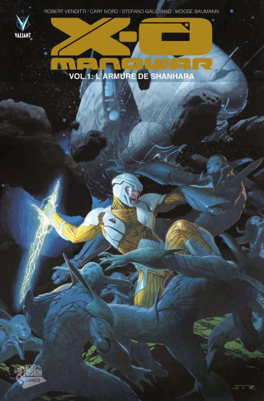 X-O Manowar – version librairie, T1 : L'armure de Shanhara (0), comics chez Panini Comics de Venditti, Gaudiano, Nord, Baumann, Ribic