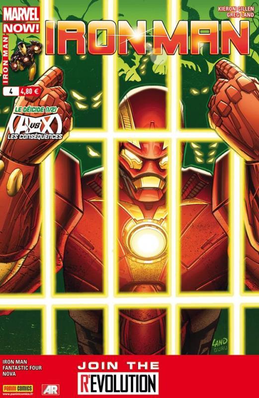 Iron Man (revue) – V 2, T4 : Le déicide (1/2) (0), comics chez Panini Comics de Loeb, Fraction, Gillen, Bagley, Land, McGuinness, Delgado, Mounts, Guru efx, Beredo, Gracia